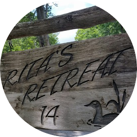 Rita's Retreat Sign